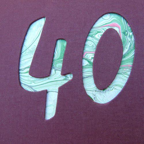 """Libro de firmas """"40"""" años con cristal. MardePapel."""