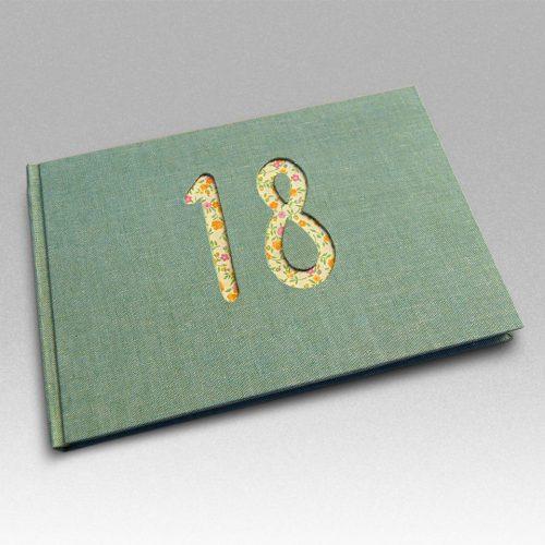 Libro de firmas 18 lino verde.MardePapel