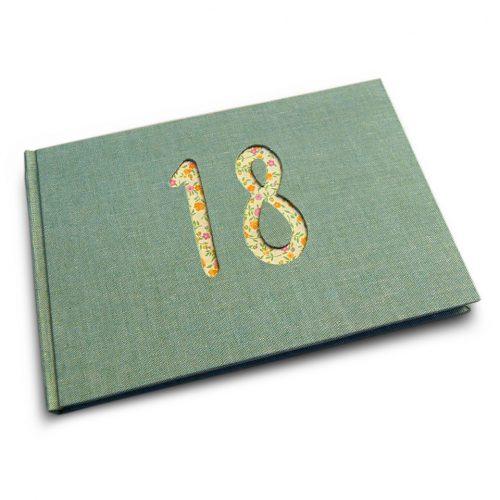 Libro de firmas 18 lino verde.