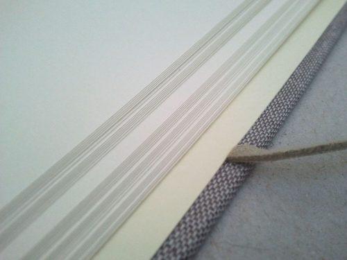 Libro de firmas lino gris con marco para foto 7.MardePapel