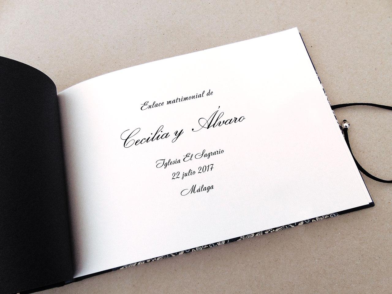 Libros de testigos para bodas 3. MardePapel
