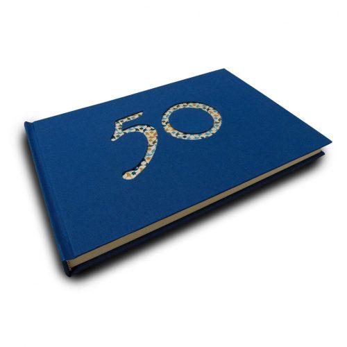 Libro de firmas azul 50 años 4. MardePapel