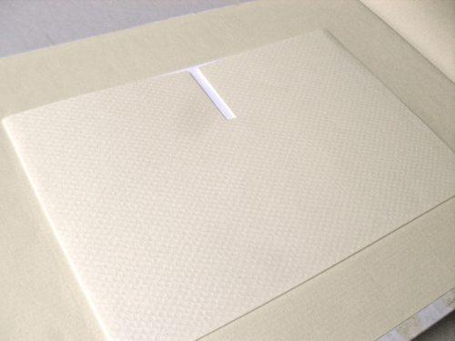 Libro de firmas blanco con marco de foto 3. MardePapel