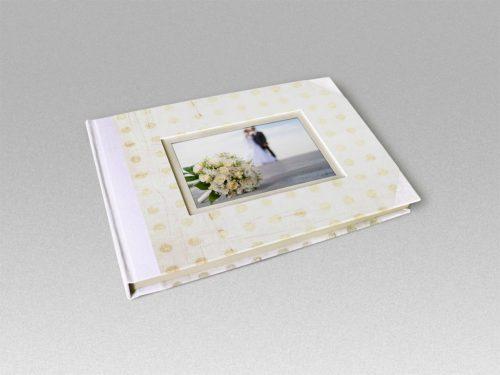 Libro de firmas blanco con marco de foto 5. MardePapel