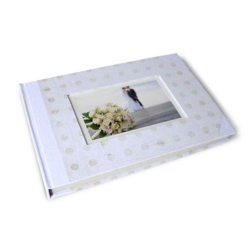 Libro de firmas blanco con marco de foto 9. MardePapel