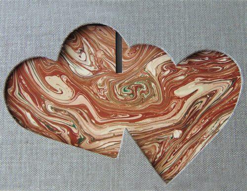 Álbum de foto y firmas con marco de corazones 11. MardePapel