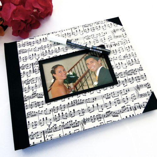 Álbum de foto y firmas musical. MardePapel