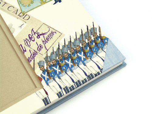 Libro de firmas grande con soldaditos 4. MardePapel