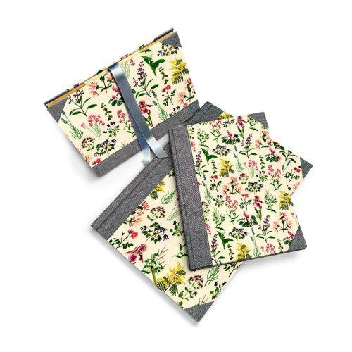 Conjunto con carpeta con flores silvestres 1. MardePapel