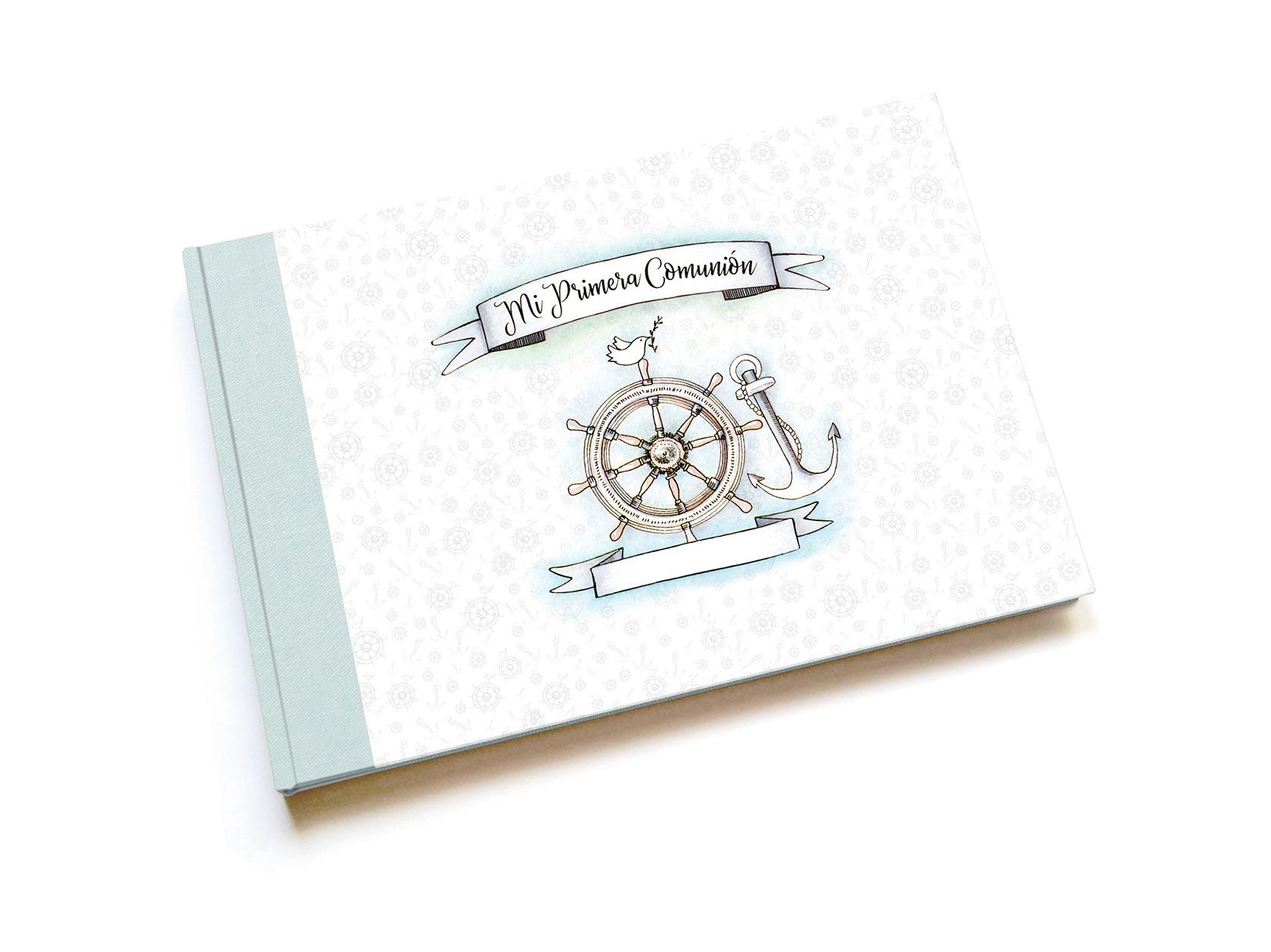 Libro de firmas de comunión<br< impreso para niño
