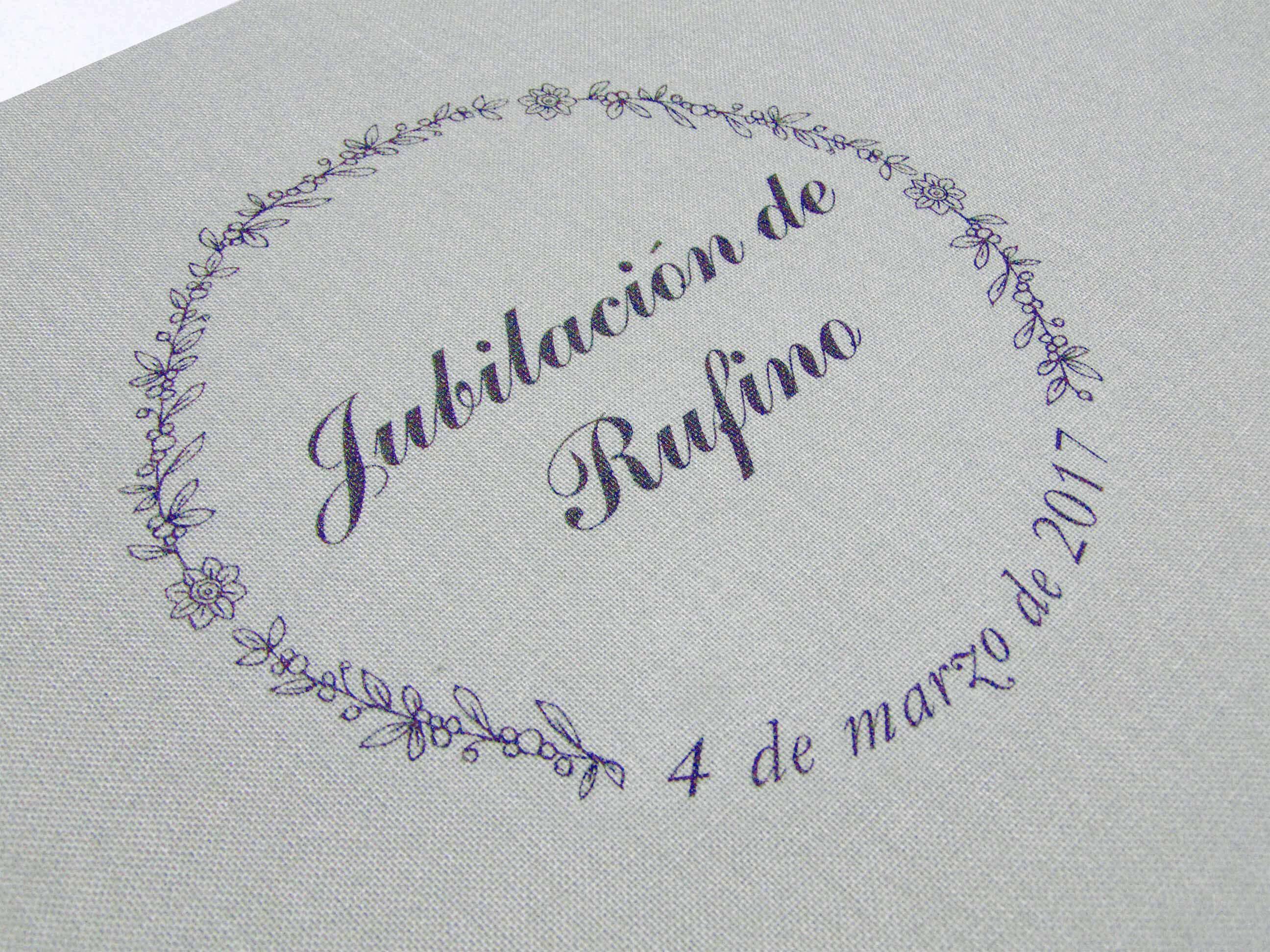 Libro de firmas Jubilación Rufino.