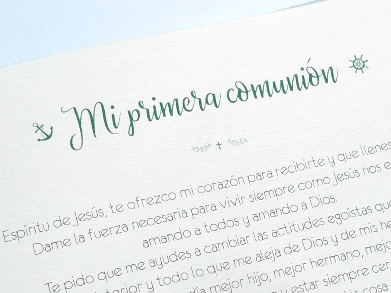 Libro de firmas para comunión con páginas impresas