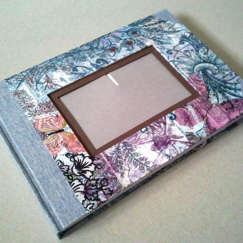 Libro de firmas colores con marco de foto 1. MardePapel