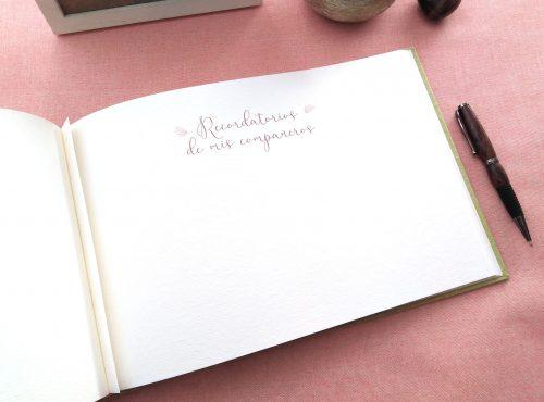 Libro de firmas de comunión Lirios 5. MardePapel
