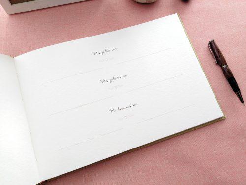 Libro de firmas niña ramo de flores 10. MardePapel