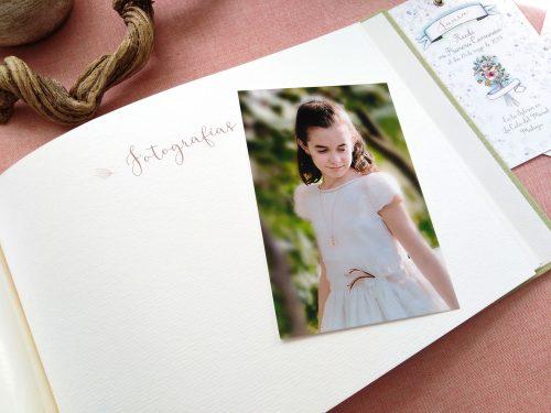 Libro de firmas niña ramo de flores 14. MardePapel