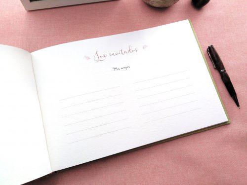 Libro de firmas niña ramo de flores 2. MardePapel