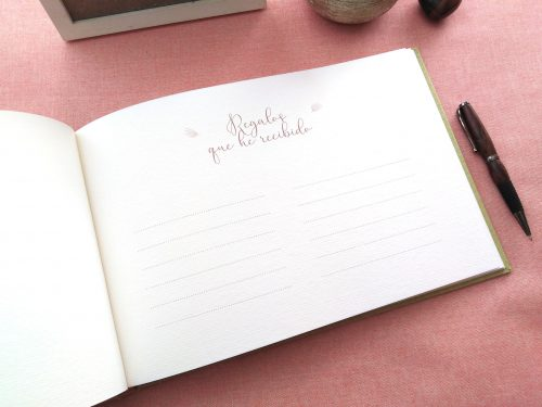 Libro de firmas niña ramo de flores 4. MardePapel