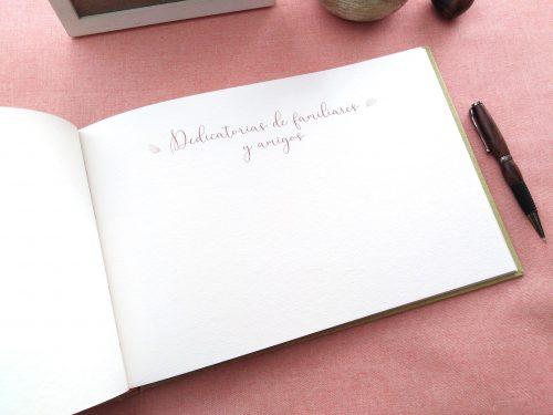 Libro de firmas niña ramo de flores 5. MardePapel
