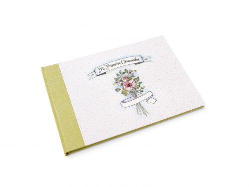 Libro de firmas niña ramo de flores 15. MardePapel