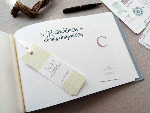 Libro de firmas niño de comunión 16. MardePapel