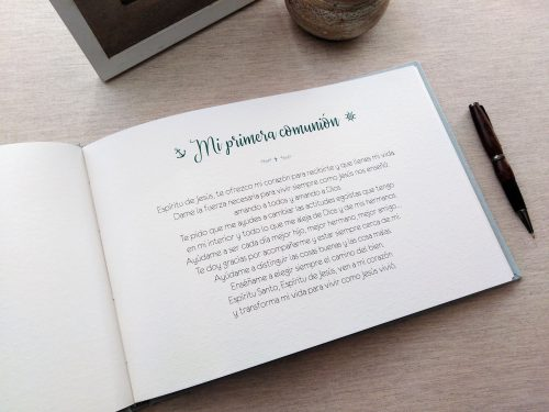 Libro de firmas niño de comunión 3. MardePapel