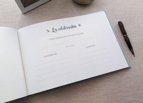 Libro de firmas niño de comunión 7. MardePapel