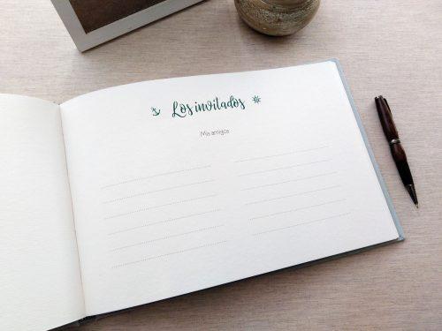 Libro de firmas niño de comunión 9. MardePapel