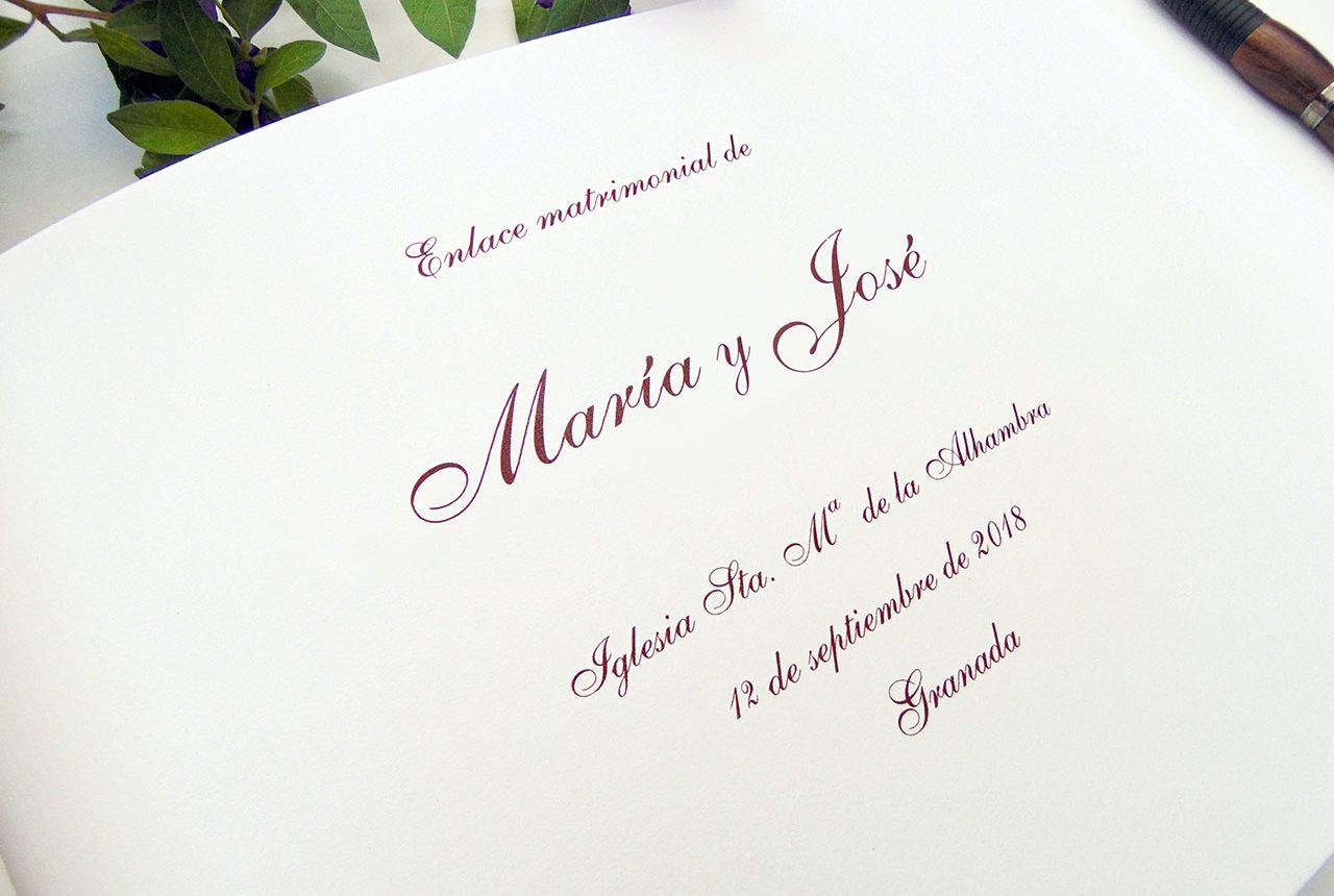 Libros de testigos y libros de firmas personalizados 11. MardePapel