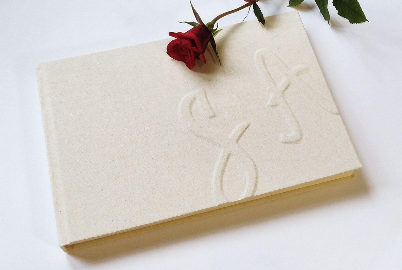 Libros de testigos y libros de firmas personalizados 14. MardePapel