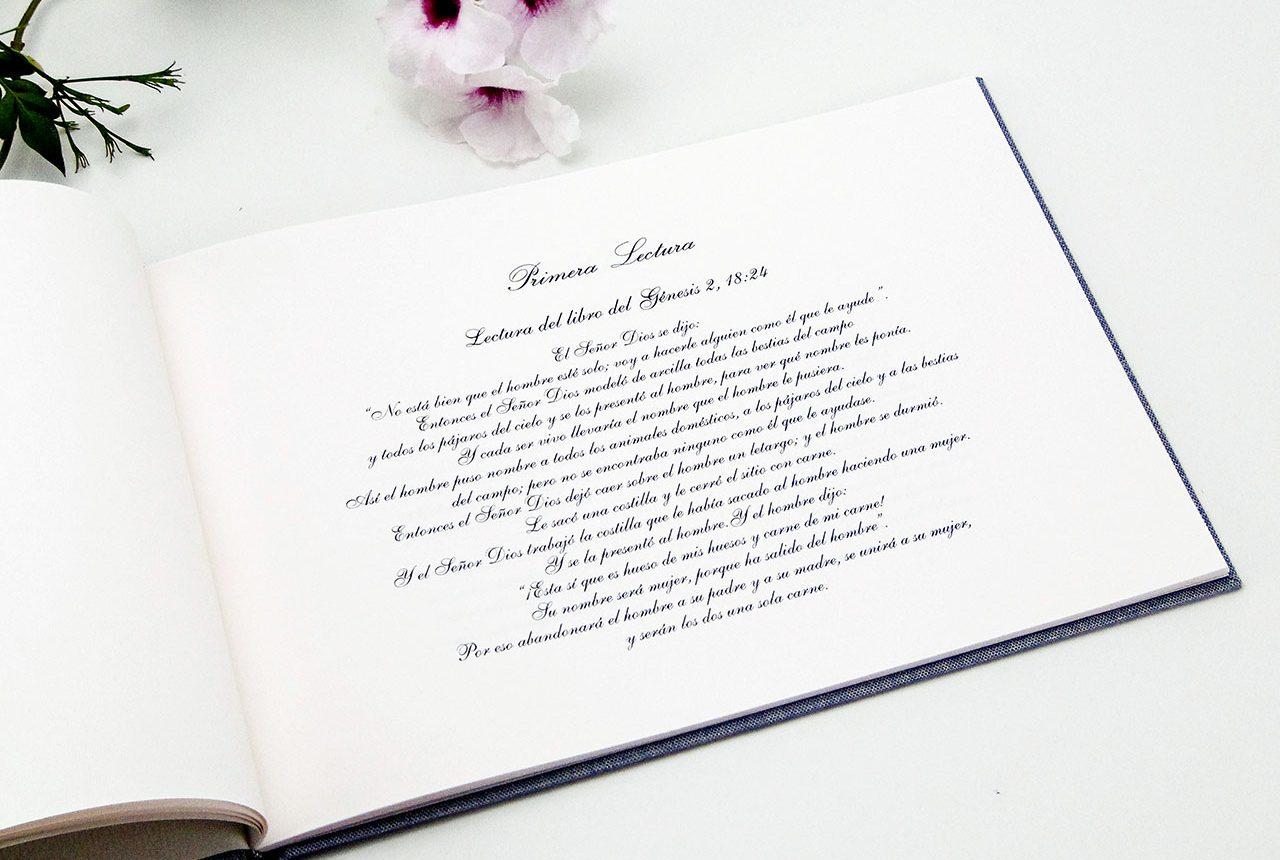 Libros de testigos y libros de firmas personalizados 5. MardePapel