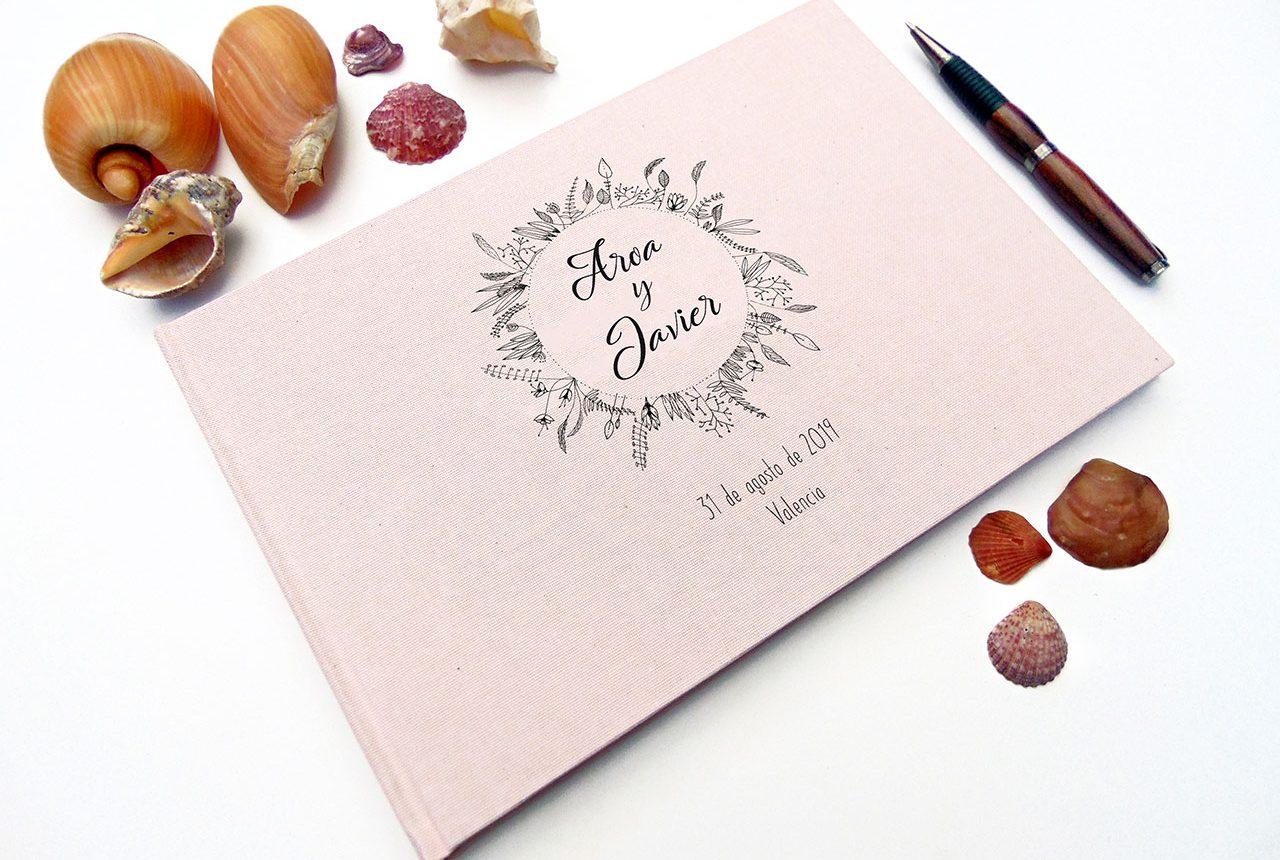 Libros de testigos y libros de firmas personalizados 8. MardePapel