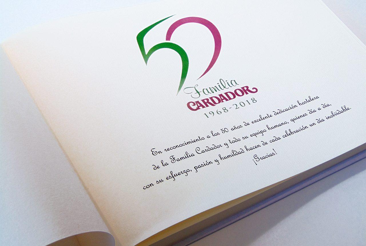 Libros de testigos y libros de firmas personalizados 15. MardePapel