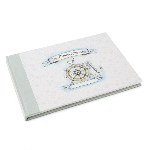 Libro de firmas niño de comunión. MardePapel