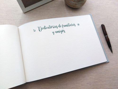 Libro de firmas comunión Ondas 11. Mardepapel