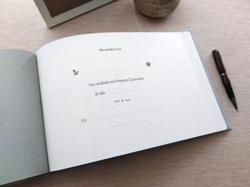 Libro de firmas comunión Ondas 2. Mardepapel