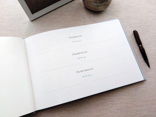 Libro de firmas comunión Ondas 4. Mardepapel