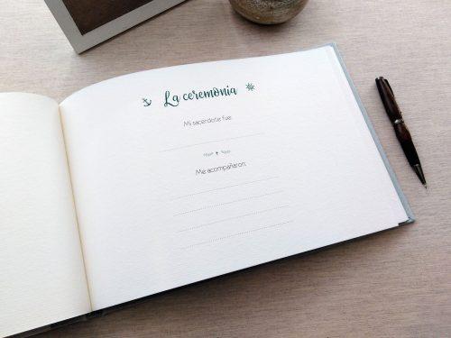 Libro de firmas comunión Ondas 6. Mardepapel