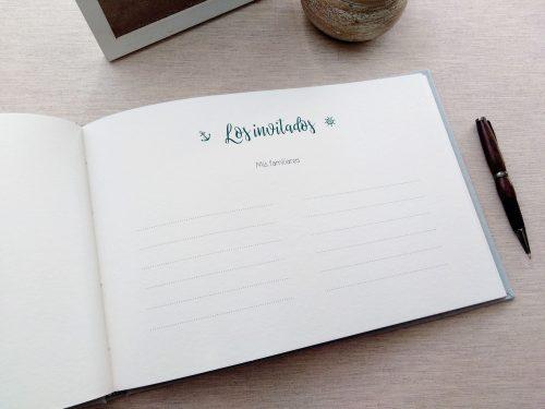 Libro de firmas comunión Ondas 8. Mardepapel