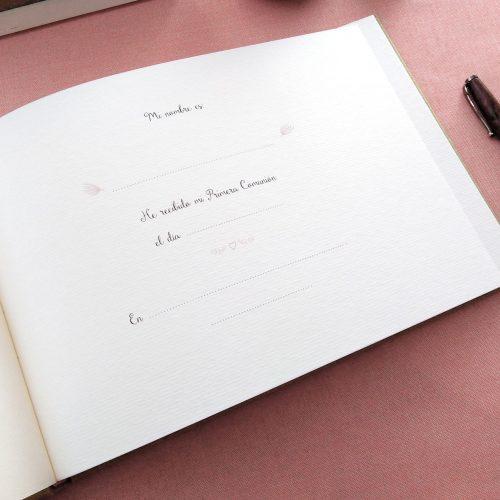 Libro de firmas comunión Mariposas 7. MardePapel