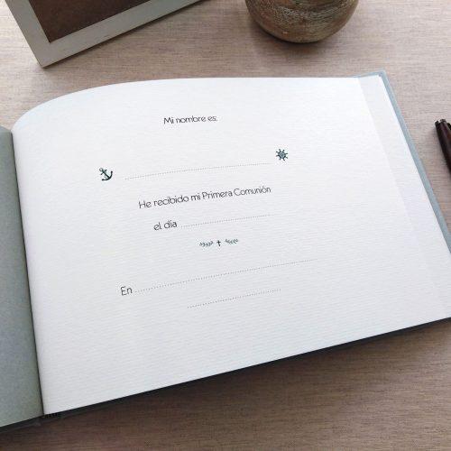 Libro de firmas comunión Natura 2. MardePapel