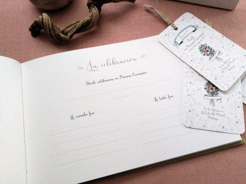 Libro de firmas comunión con Flores silvestres 13. Mardepapel