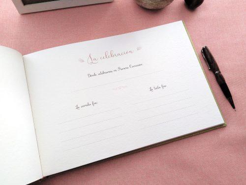 Libro de firmas comunión con Flores silvestres 2. Mardepapel
