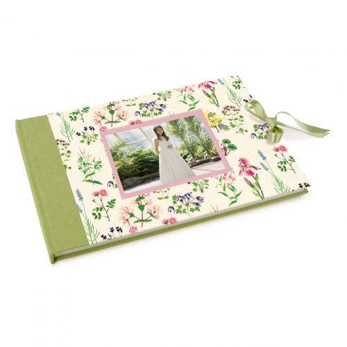 Libro de firmas comunión con Flores silvestres. Mardepapel