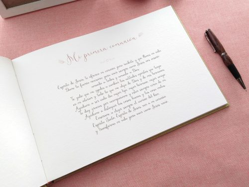 Libro de firmas comunión con Flores silvestres 8. Mardepapel
