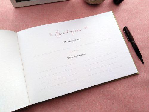 Libro de firmas comunión Líneas de colores 10. MardePapel