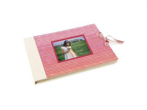 Libro de firmas comunión Líneas de colores. MardePapel