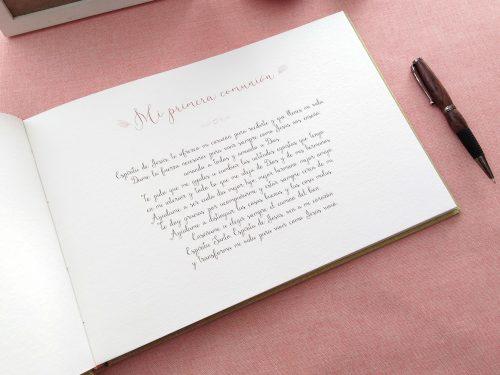 Libro de firmas comunión Líneas de colores 8. MardePapel