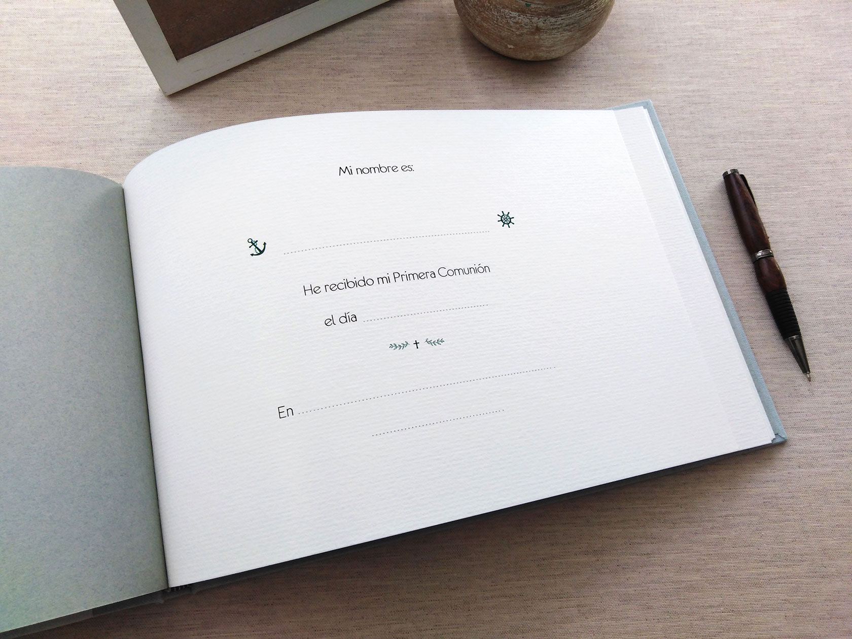 Libro de firmas para comunión<br> impreso