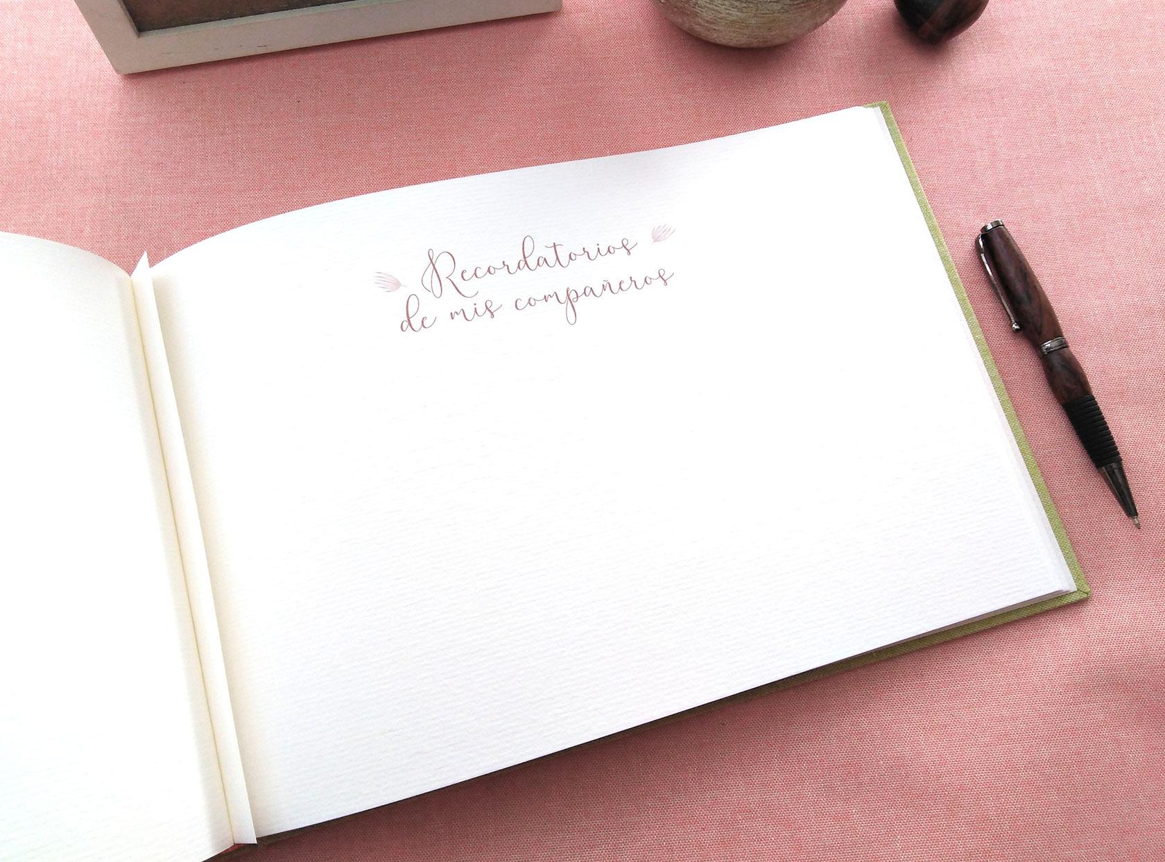 Libros de firmas<br> impresos